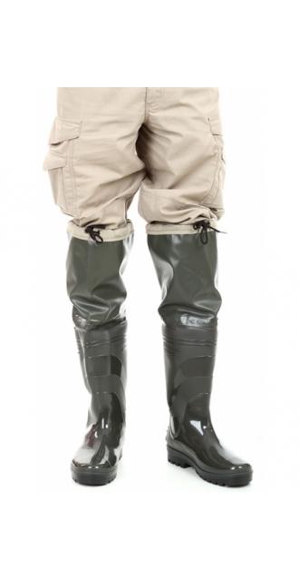 Резиновые сапоги с надставкой за колено 60 см.