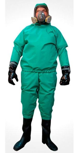 Suit chemical resistant hermetic