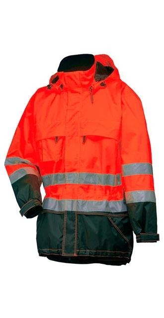 Waterproof jacket with reflectors