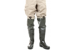 Rubber boots with a knee extension