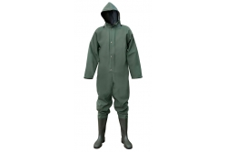 Waterproof overall with boots